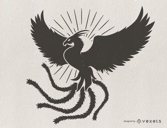 Ilustração da silhueta de Phoenix
