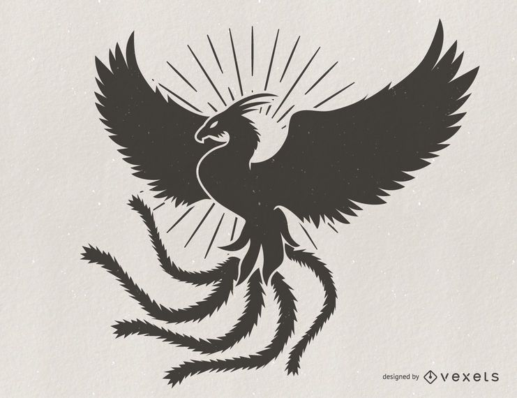 Phoenix silueta ilustración