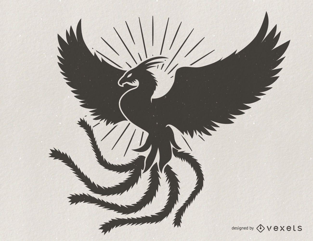 Ilustraci?n de silueta de Phoenix