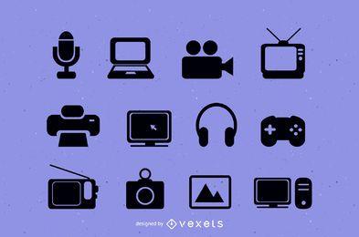 Dispositivos vectoriales de tecnología de medios
