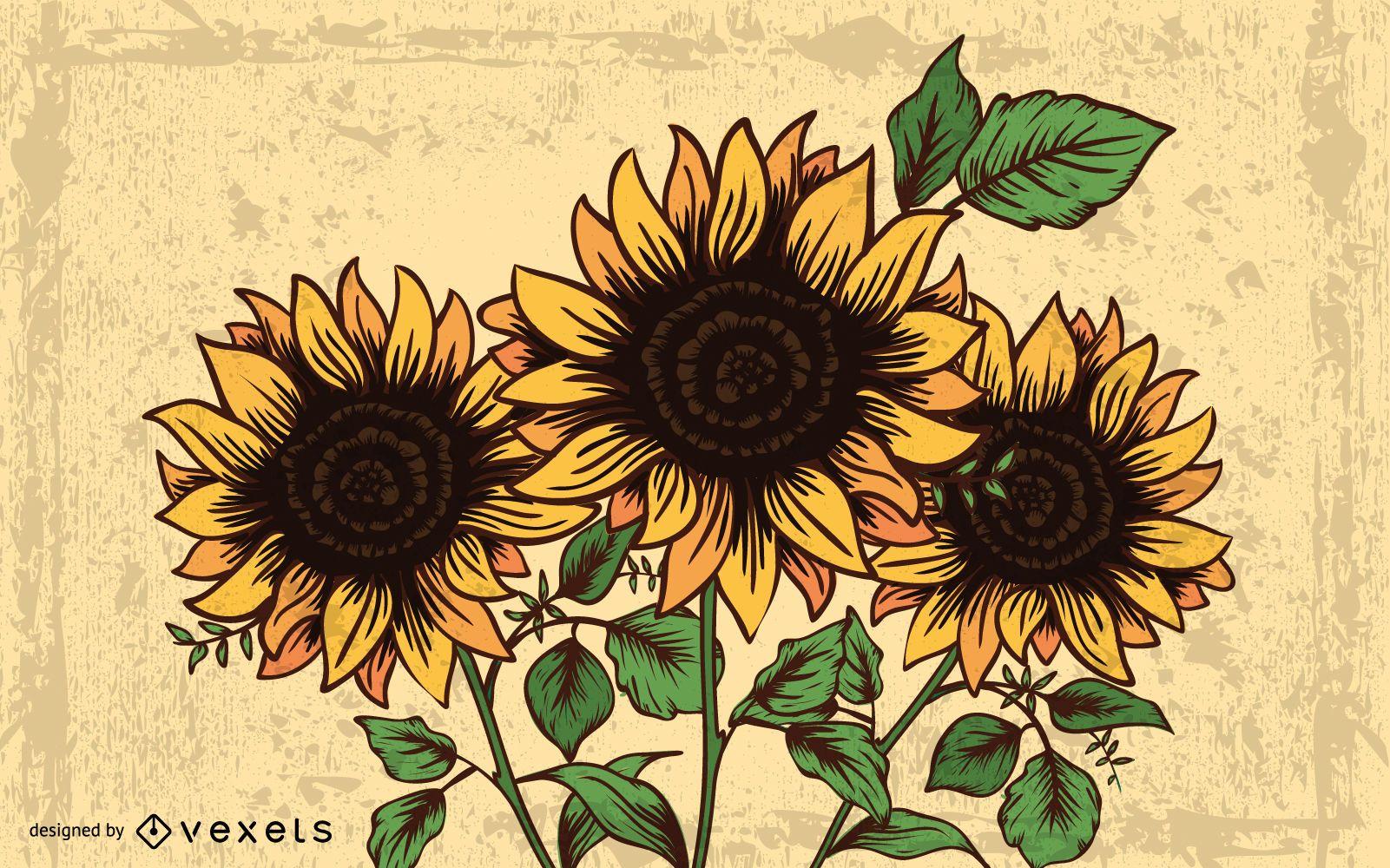 Summer Dream Artwork with Sunflower