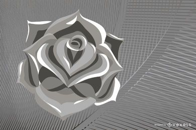 Metallic Rose Vector