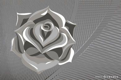 Metallischer Rosen-Vektor