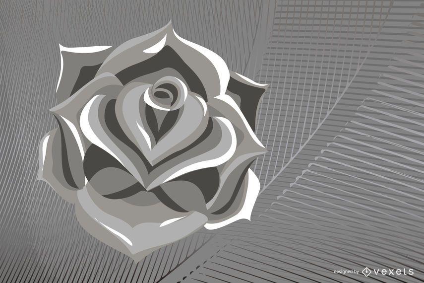 Metallic Rose Vector