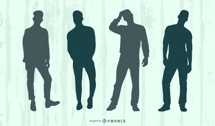 Male Model Silhouette Set