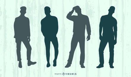 Vektor Silhouette Menschen