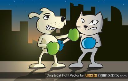 Perro y gato Lucha