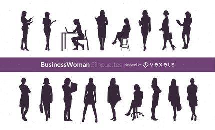 Mulheres de negócios de vetor de silhueta