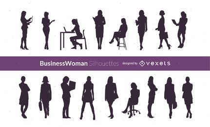 Silhouette Vector Businesswomen