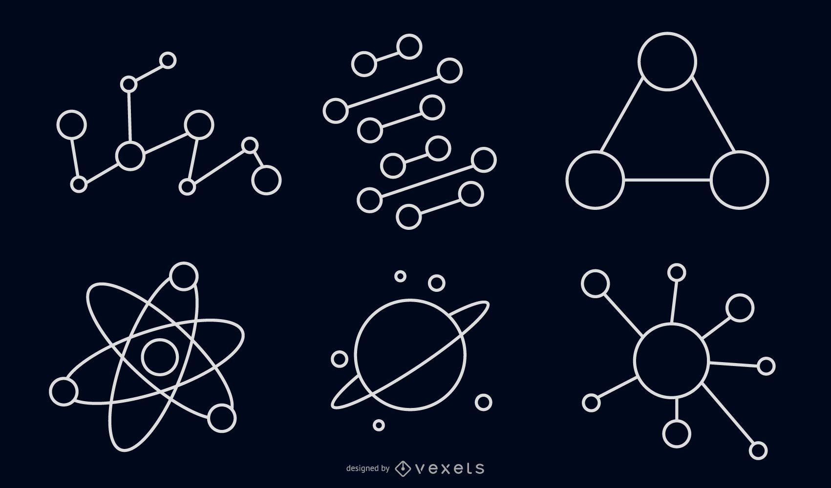 Vector de paquete de iconos de portal
