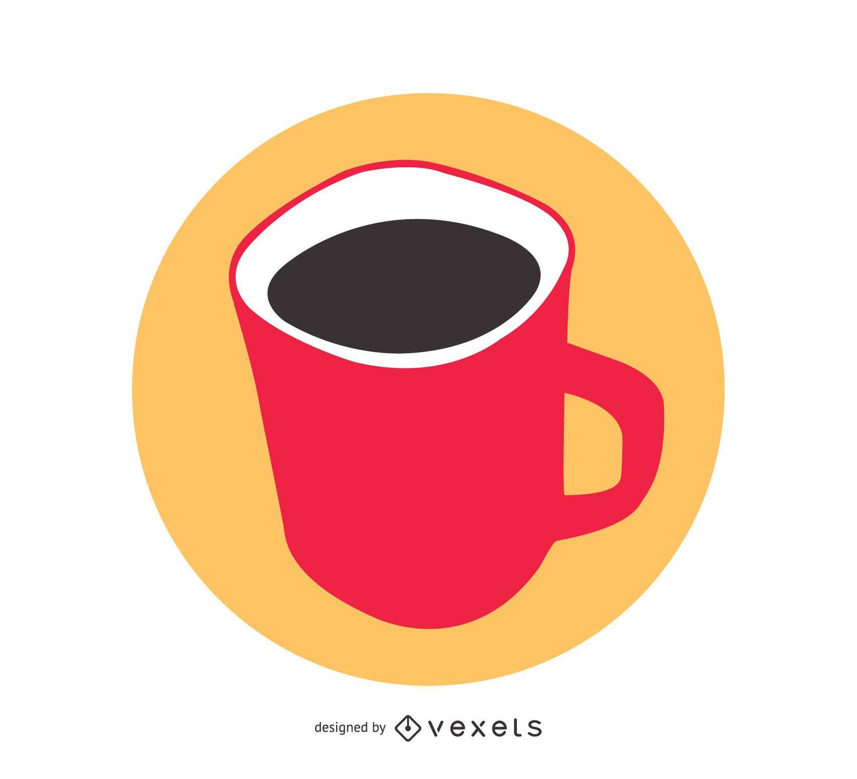 Vector de taza roja