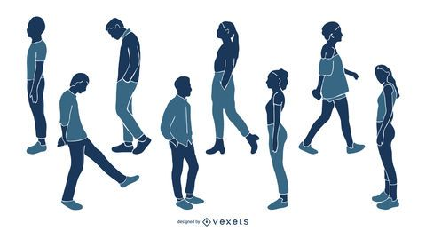 Young People Silhouette Pack