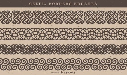 Celtic Pattern Brush Vector