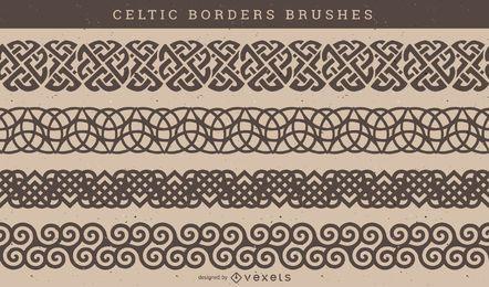 Vetor de escova padrão celta