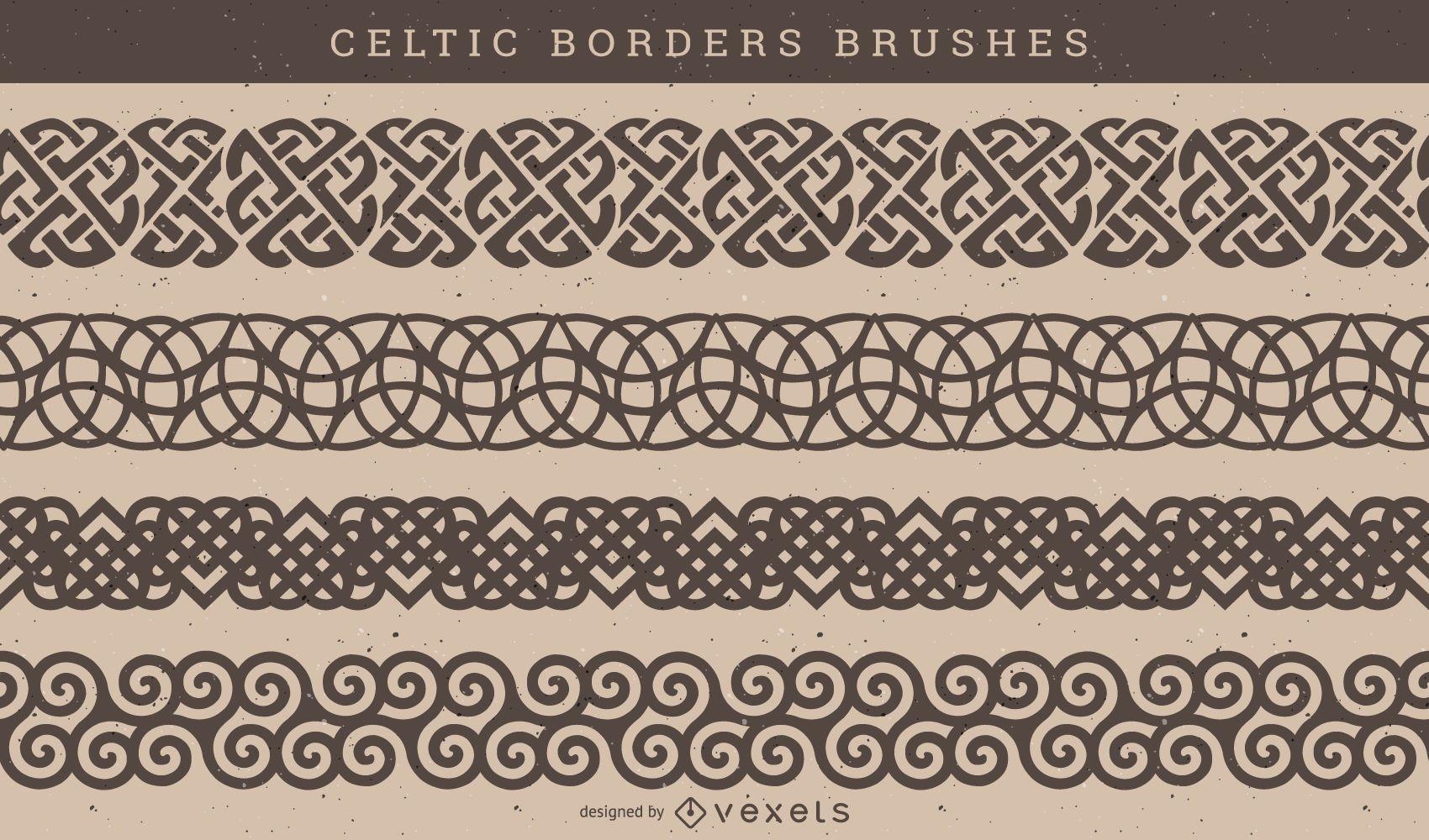 Vector de cepillo de patrón celta