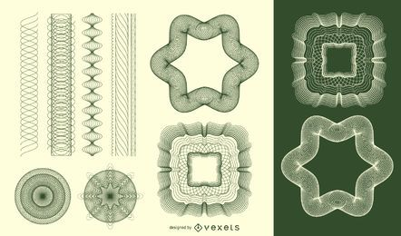 Guilloche-Muster-Vektor