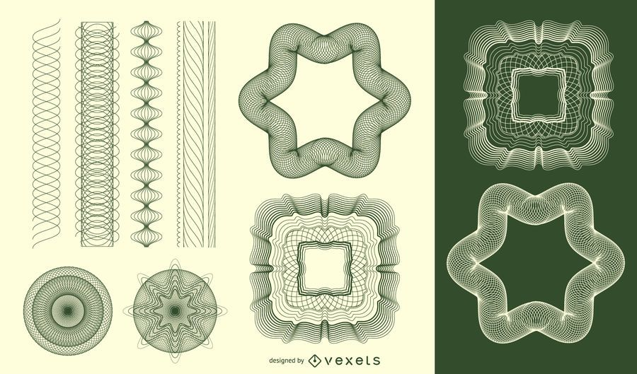 Guilloche vector patrón - Descargar vector
