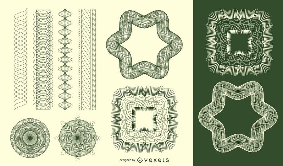 Vector de patrón labrada