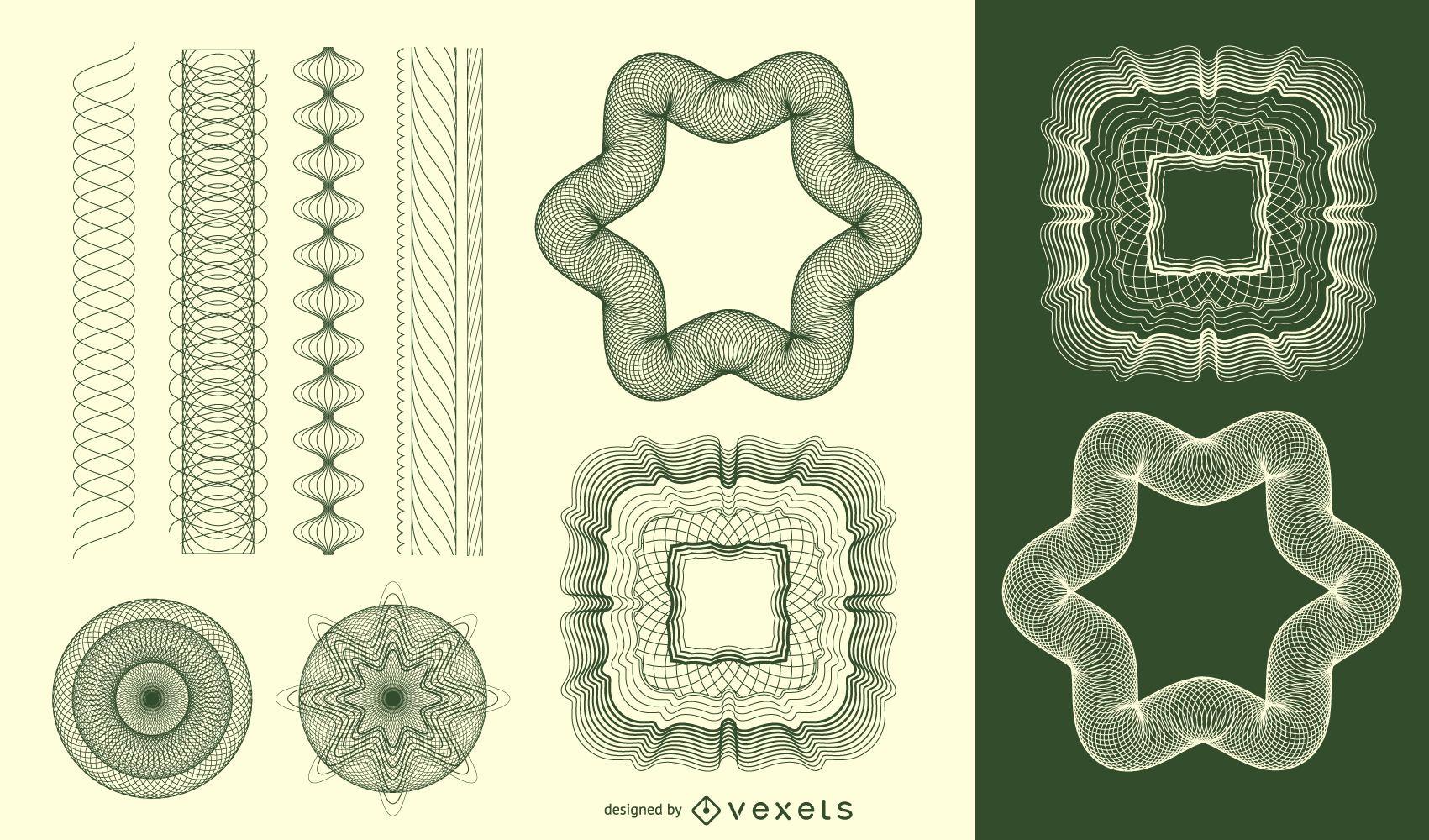 Vector de patrón de labrada