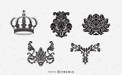 Mittelalterliche Wappenkunde-Elemente