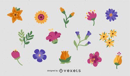 Varios vectores de flores