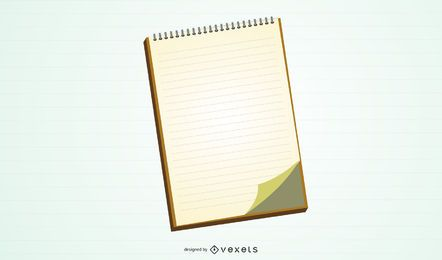 Leerer Notizbuch-Vektor
