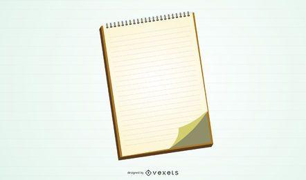 Vector de cuaderno en blanco
