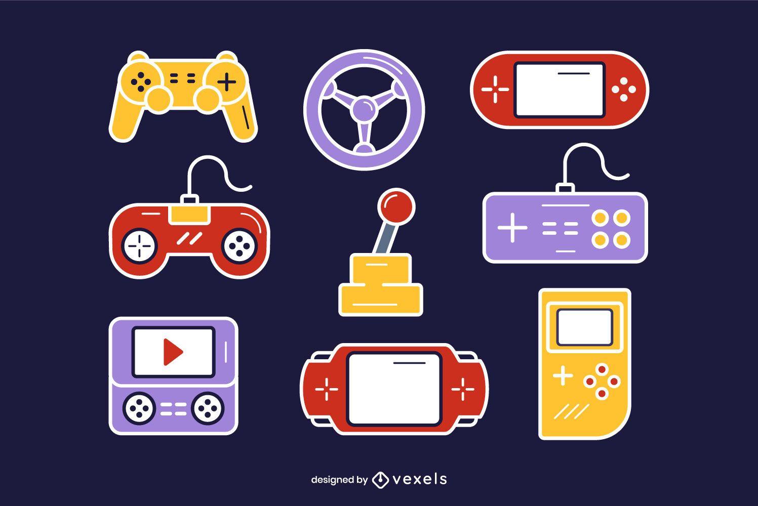 Game Controller Set Vector