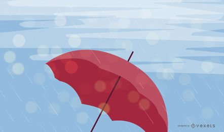 Rainy Day Umbrella Vector