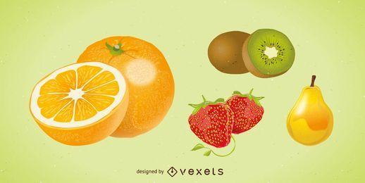 Vector de frutas