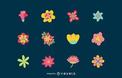 Vector de paquete de flores