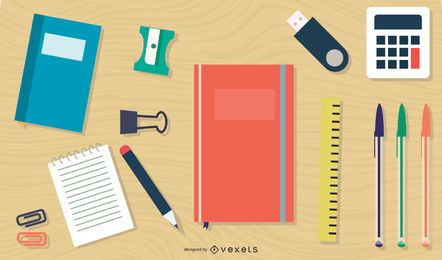 Office Stationary Vector