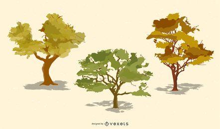 Árvores realistas de vetor