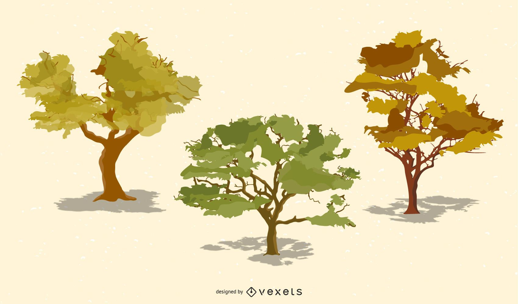 Vector Realistic Trees