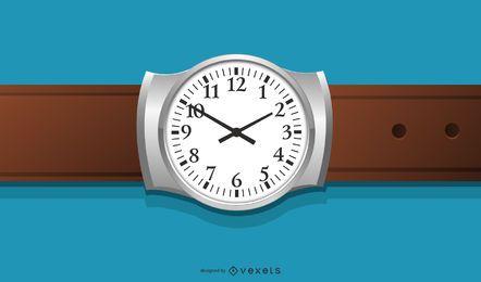 Ilustração realista do relógio manual