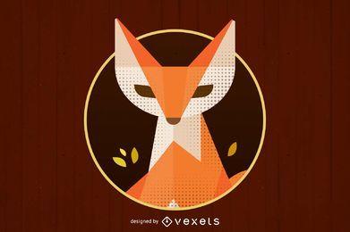 Logo de zorro abstracto