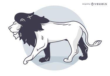 Silueta león vector