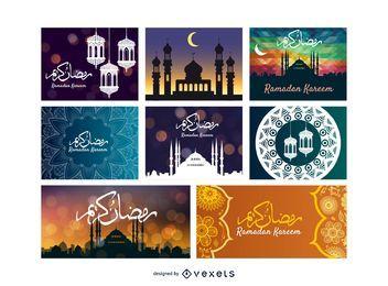 Plantilla de tarjeta de felicitación islámica