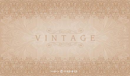 Padrão de borda decorativa vintage