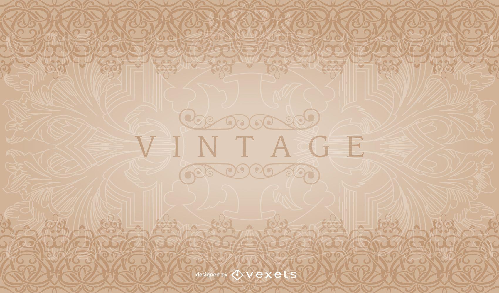 Patrón de borde decorativo vintage