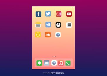 Vector User Interface of IOS7