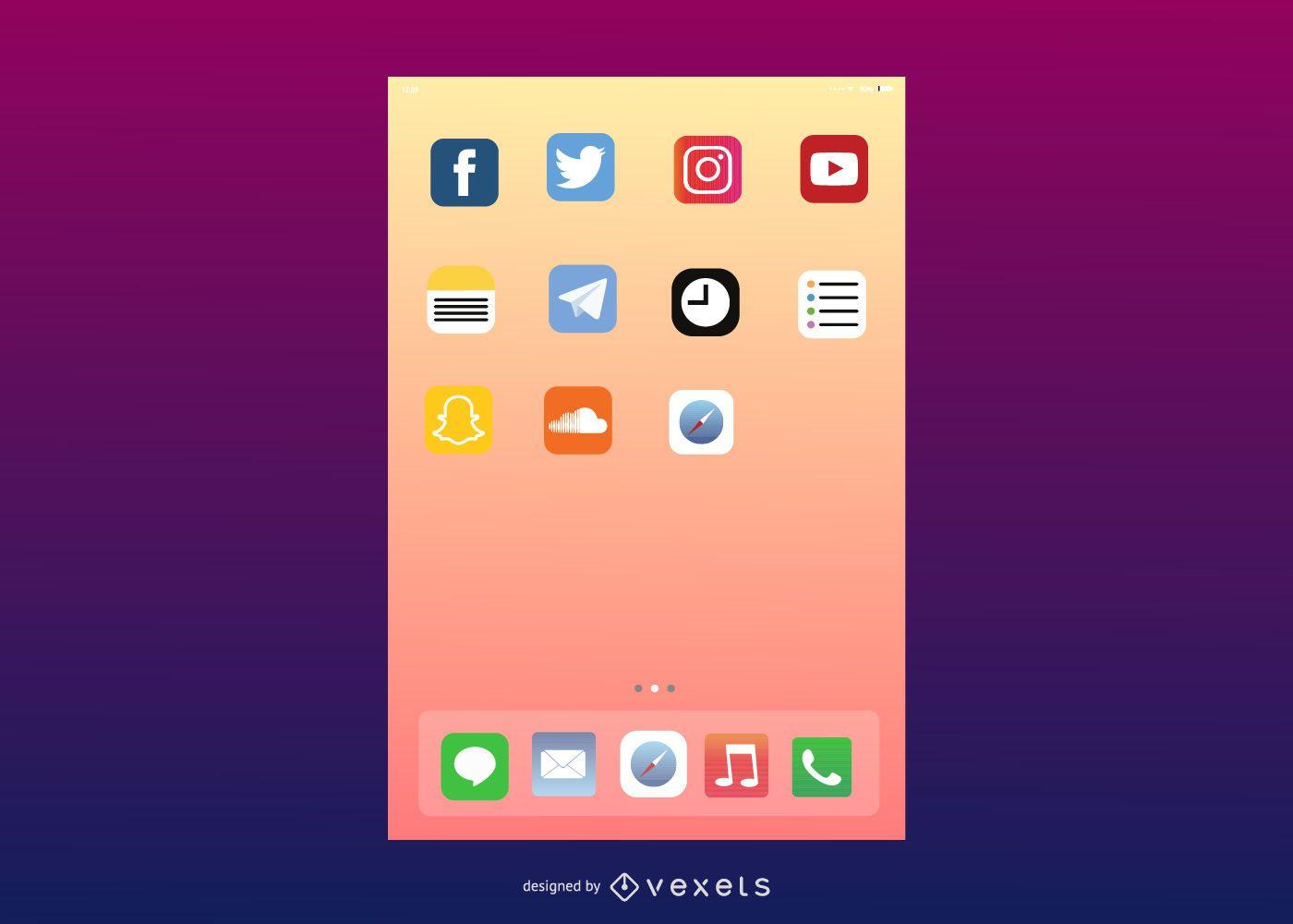 Interfaz de usuario vectorial de IOS7