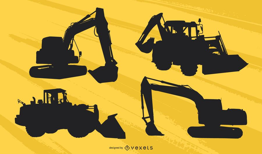 Heavy Machinery Silhouette Pack