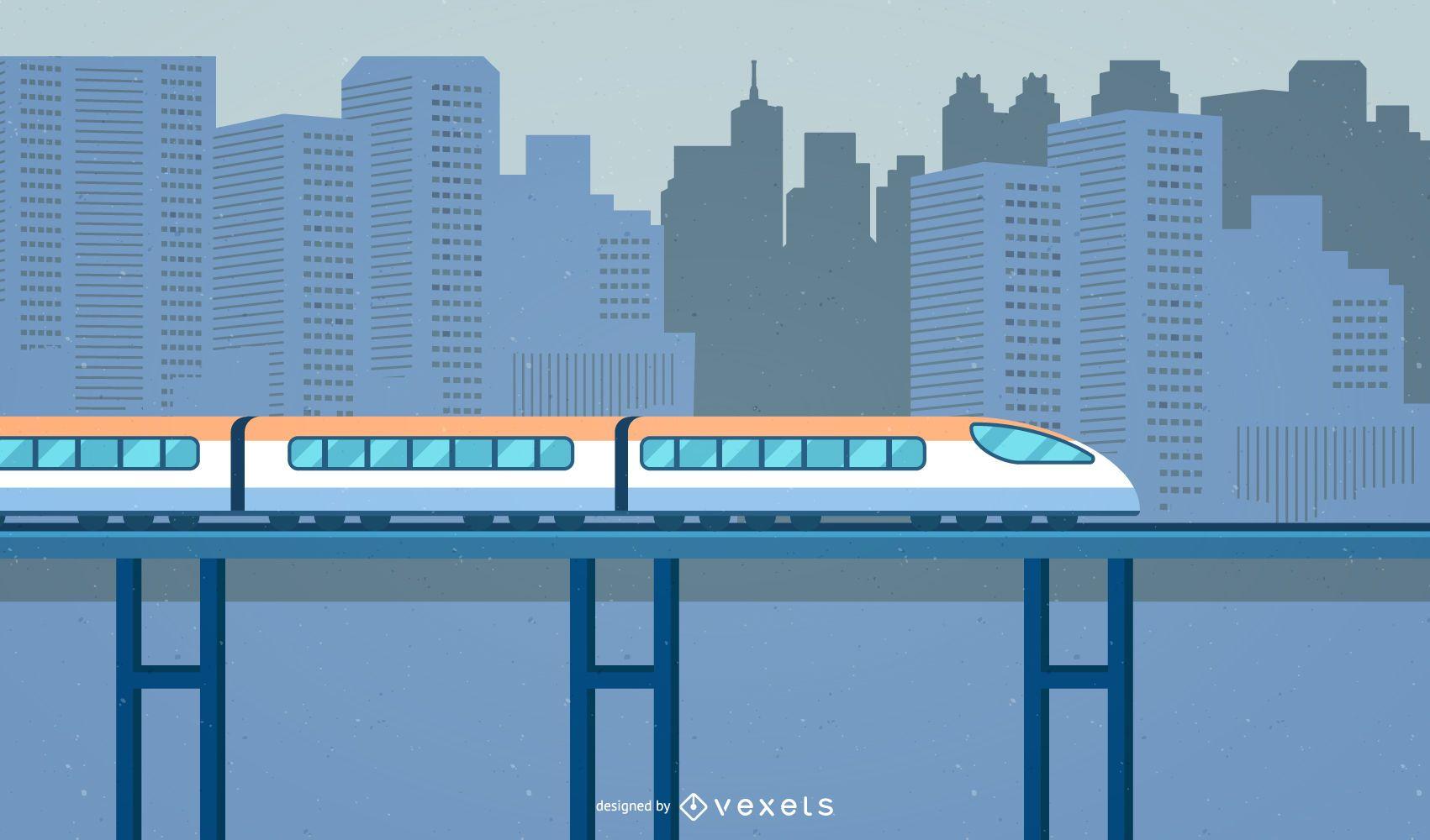 Tren urbano de alto detalle