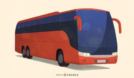 Vector de autobús de la ciudad