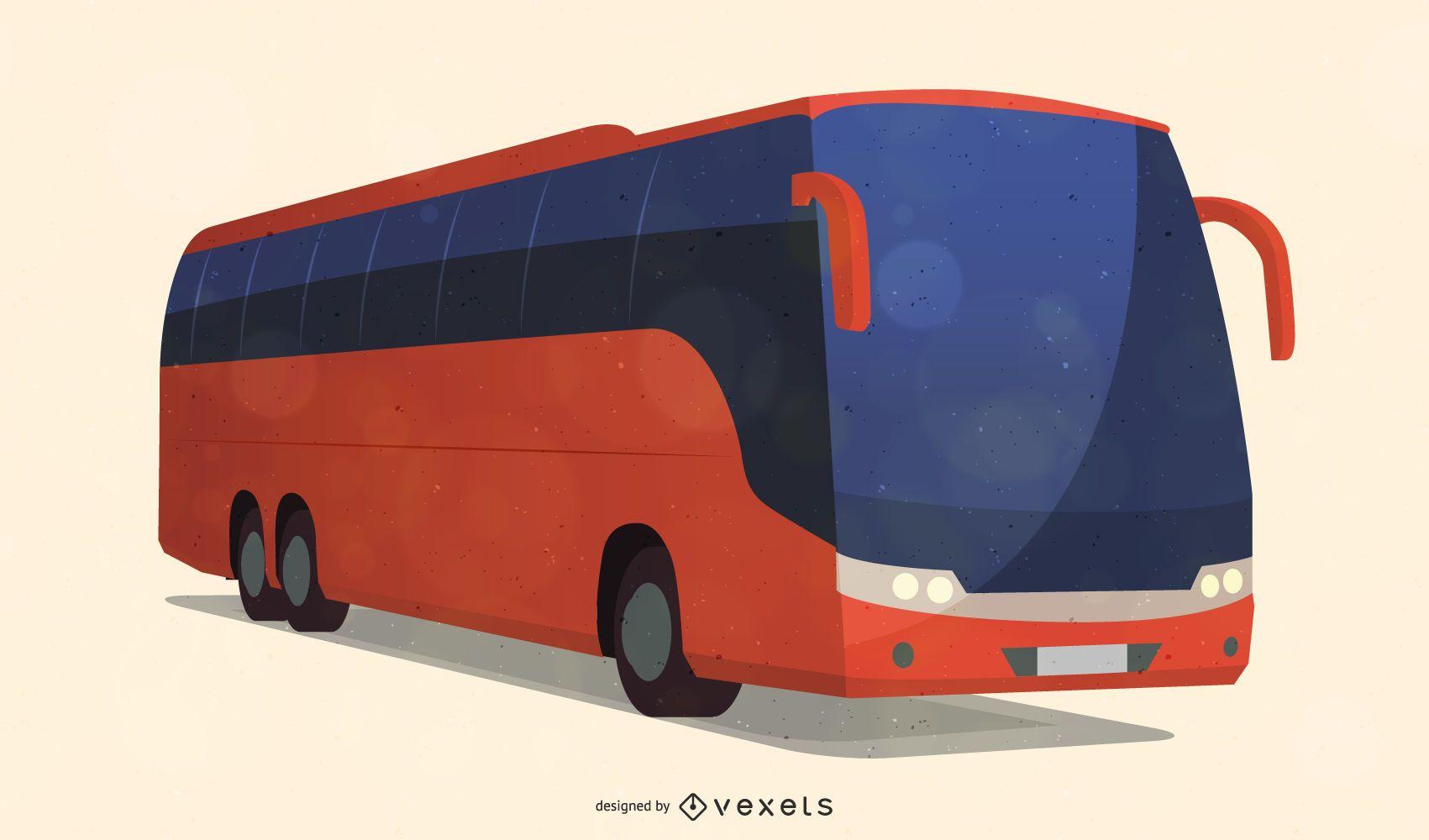 Vector de autobús urbano