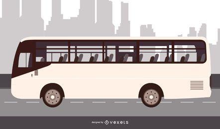 Autobús urbano de alto detalle de época