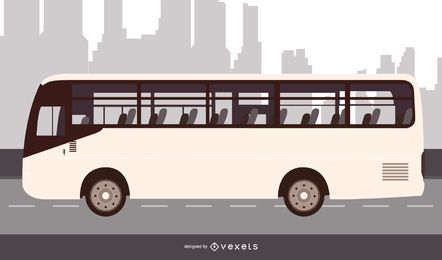 Design plano de ônibus urbano