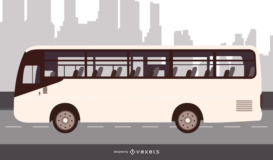 City Bus Flat Design