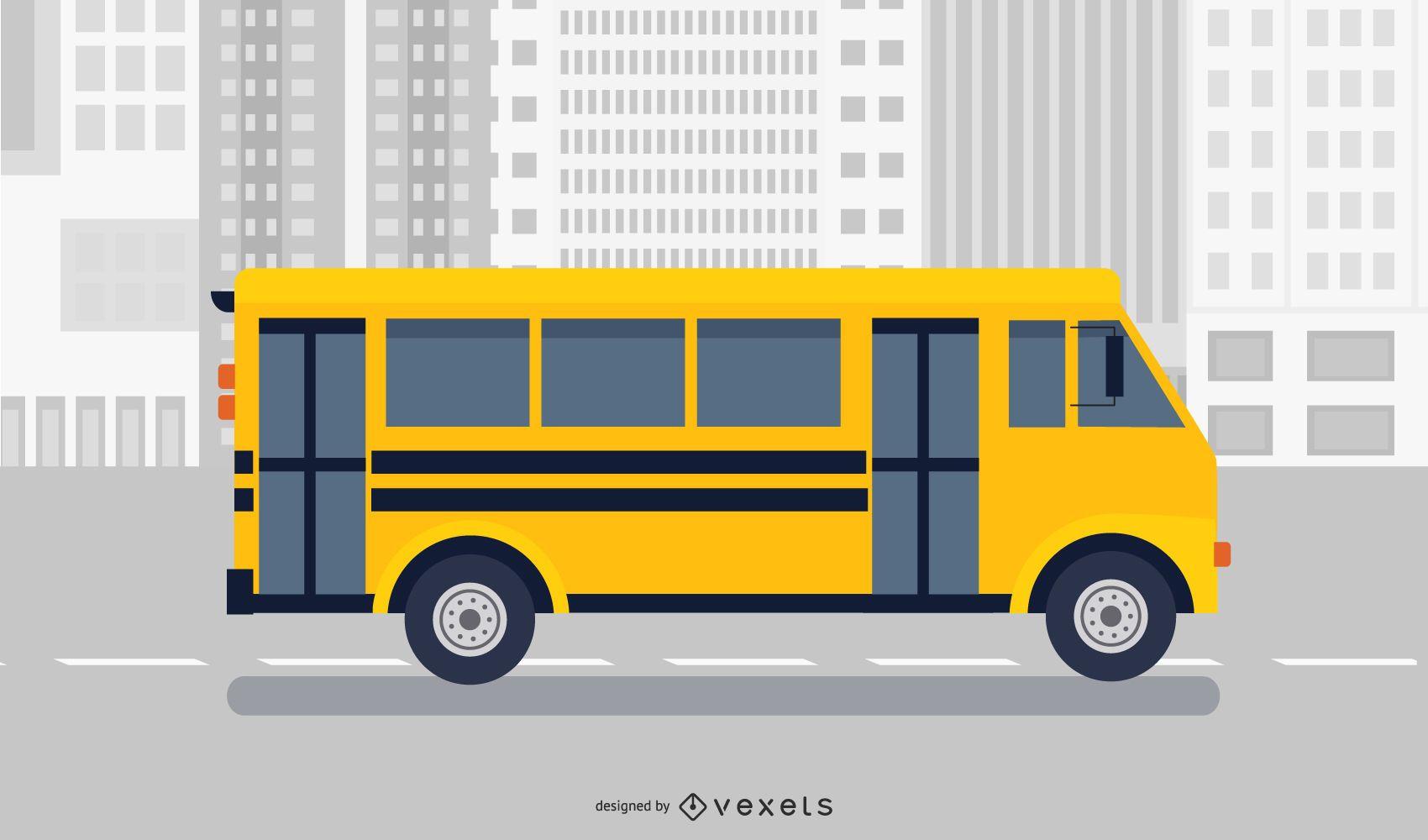 Vector de mini bus corporativo